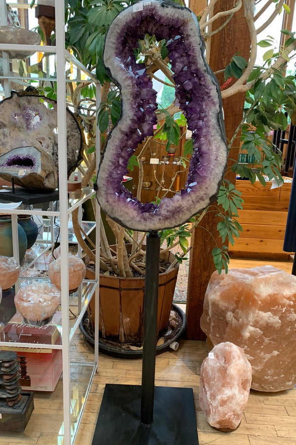 Amethyst Geode on Spin Stand 5' tall - Zero Point Crystals