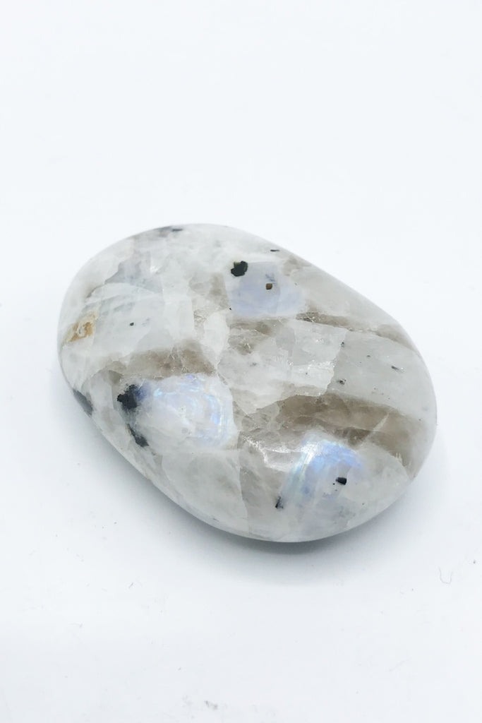 Rainbow Moonstone Palm Stone - Zero Point Crystals