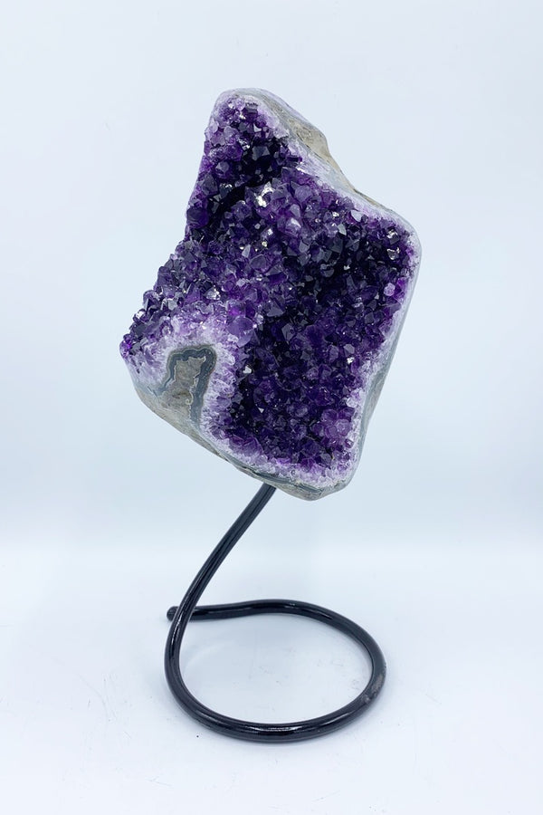 Amethyst Geode on Stand(#3691) - Zero Point Crystals