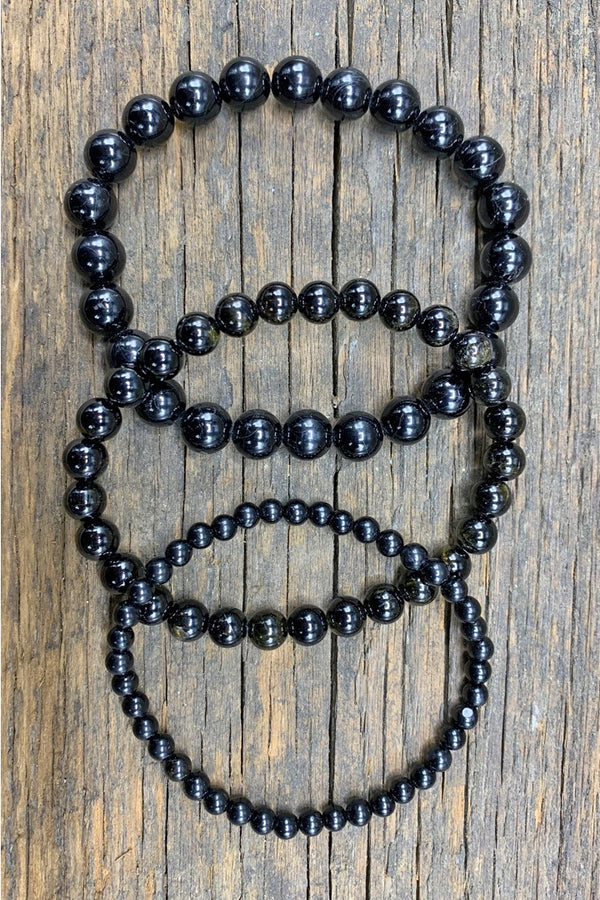 Black Tourmaline Stretch Bracelet - Zero Point Crystals