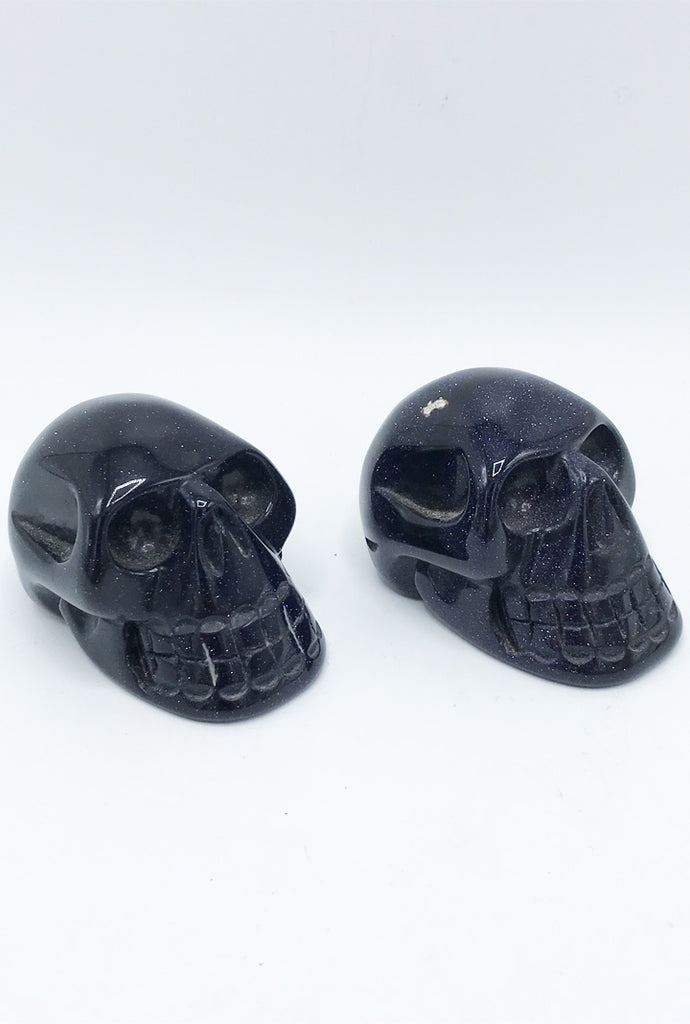 Blue Goldstone Skull - Zero Point Crystals