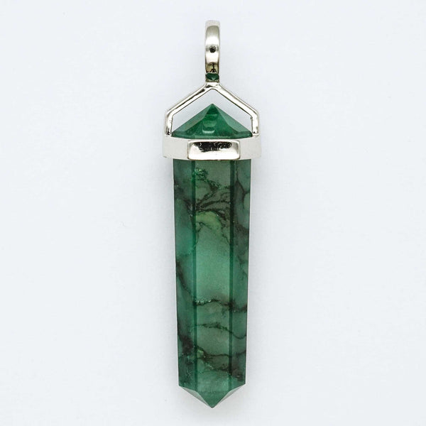 Jade Double Point Pendant - Zero Point Crystals