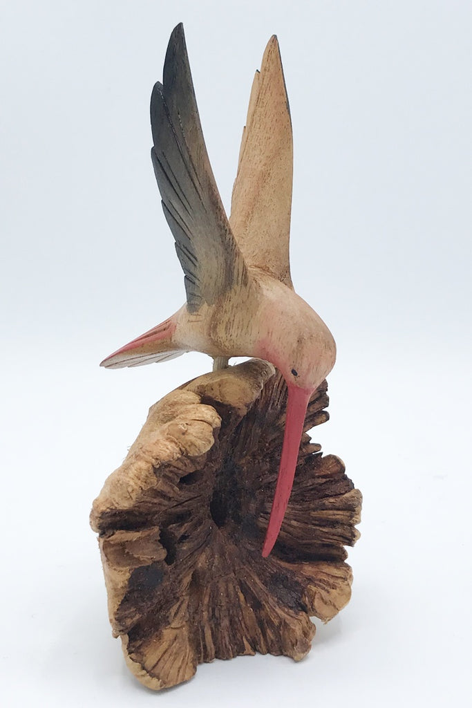 Hummingbird Wood Carving - Zero Point Crystals