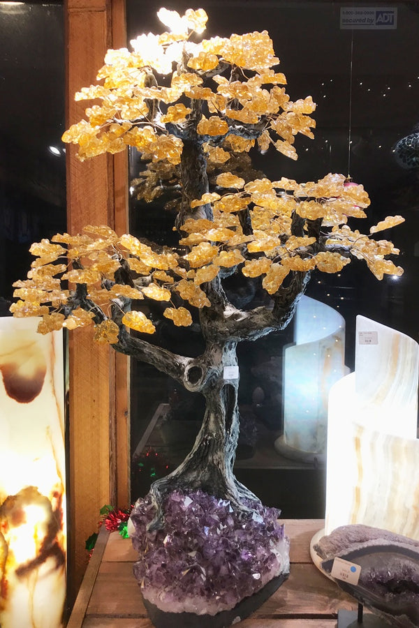 Citrine Gem Tree - Zero Point Crystals