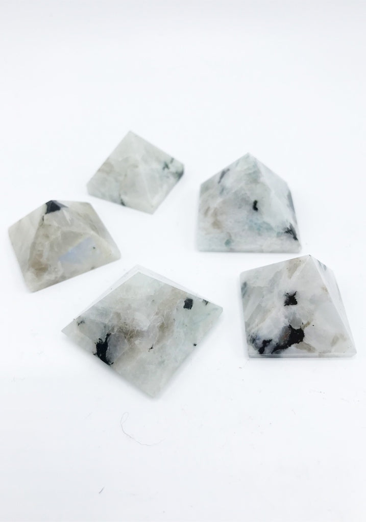 Rainbow Moonstone Pyramid - Zero Point Crystals