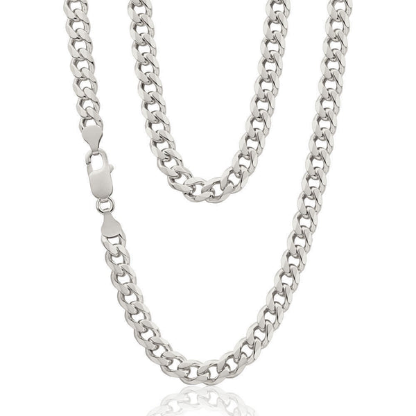 .925 Sterling Silver Curb Chain - Zero Point Crystals
