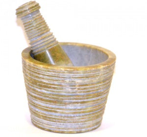 Carved Mortar & Pestle - Zero Point Crystals