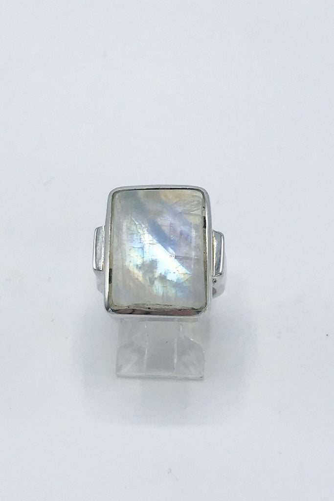 Rainbow Moonstone Ring - Zero Point Crystals