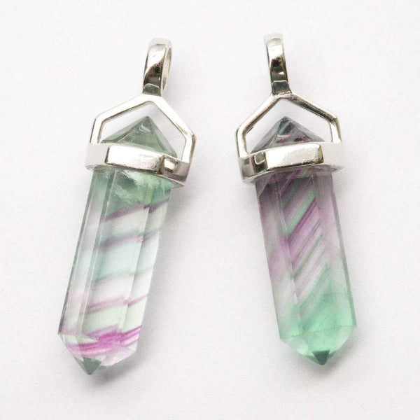 Fluorite Double Point Pendant - Zero Point Crystals
