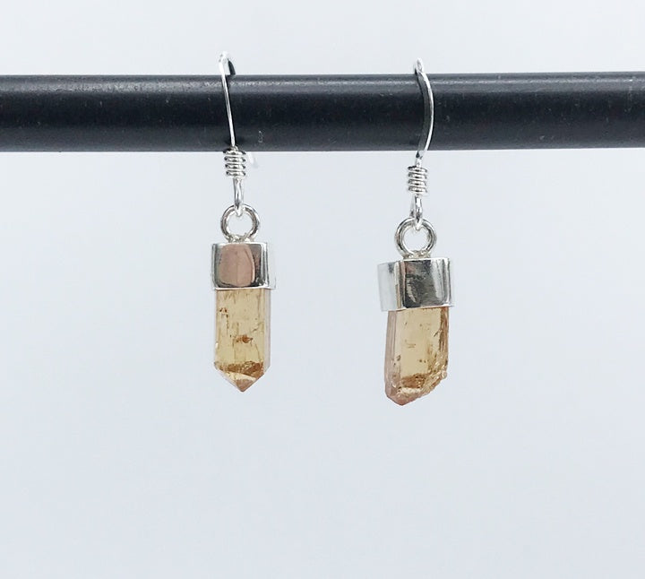 Imperial Topaz Earrings - Zero Point Crystals