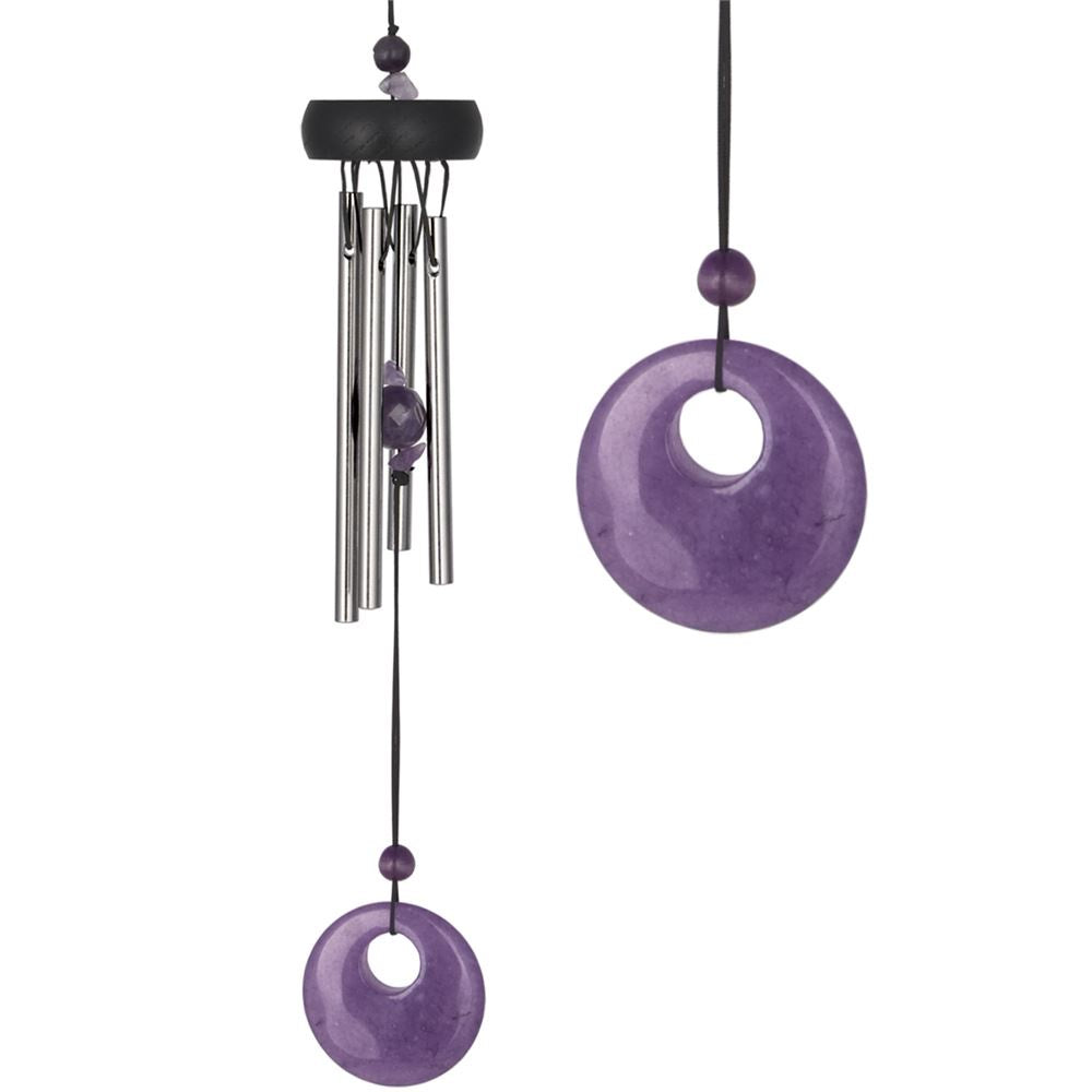 Precious Stone Chimes (Amethyst) - Zero Point Crystals