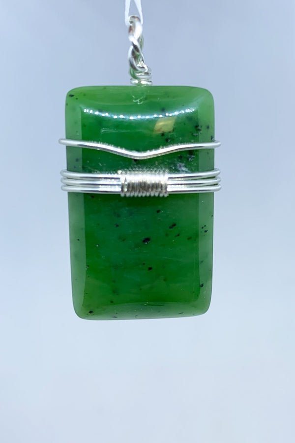 Jade Wire Wrap Pendant - Zero Point Crystals