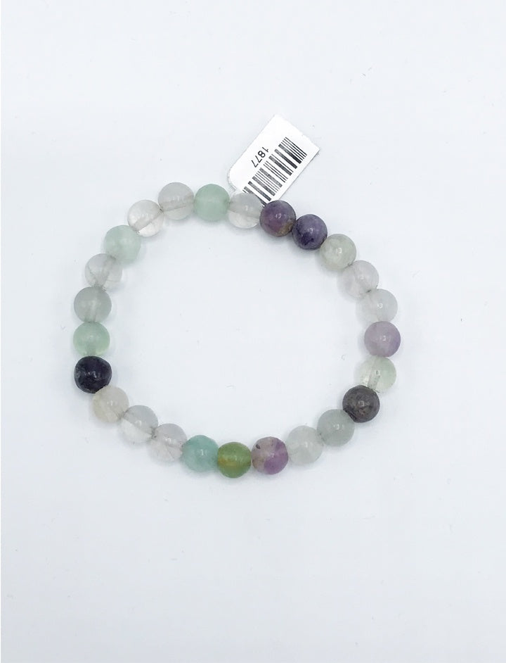 Fluorite Bead (Stretch) Bracelet - Zero Point Crystals