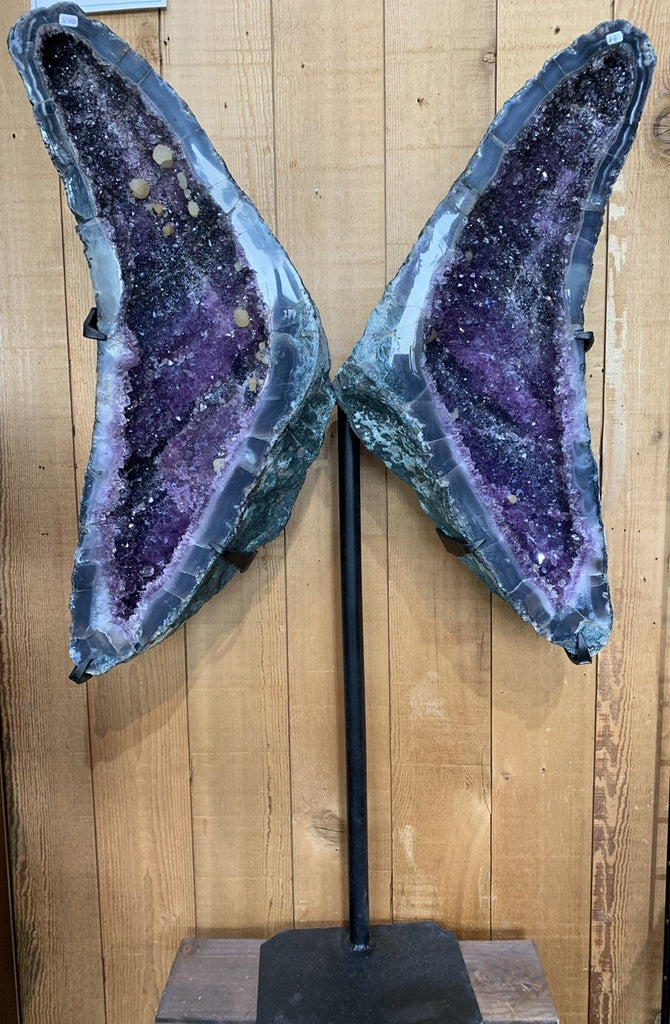 Amethyst Wings on stand - Zero Point Crystals