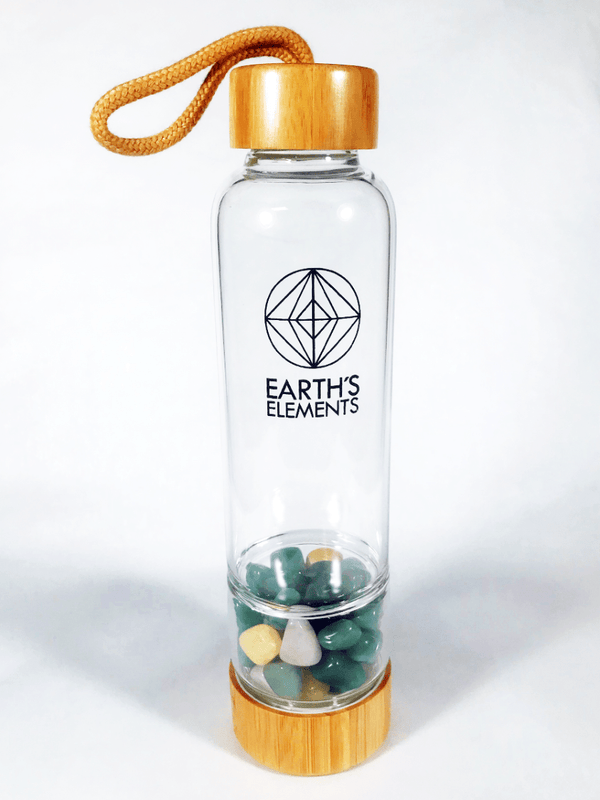 Earth's Elements Gem Water Bottle - Zero Point Crystals