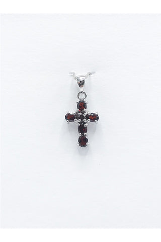 Garnet (Idaho) Cross Pendant - Zero Point Crystals