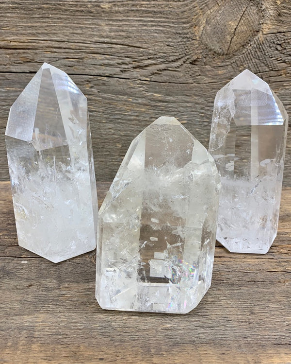Quartz Polished Point - Zero Point Crystals