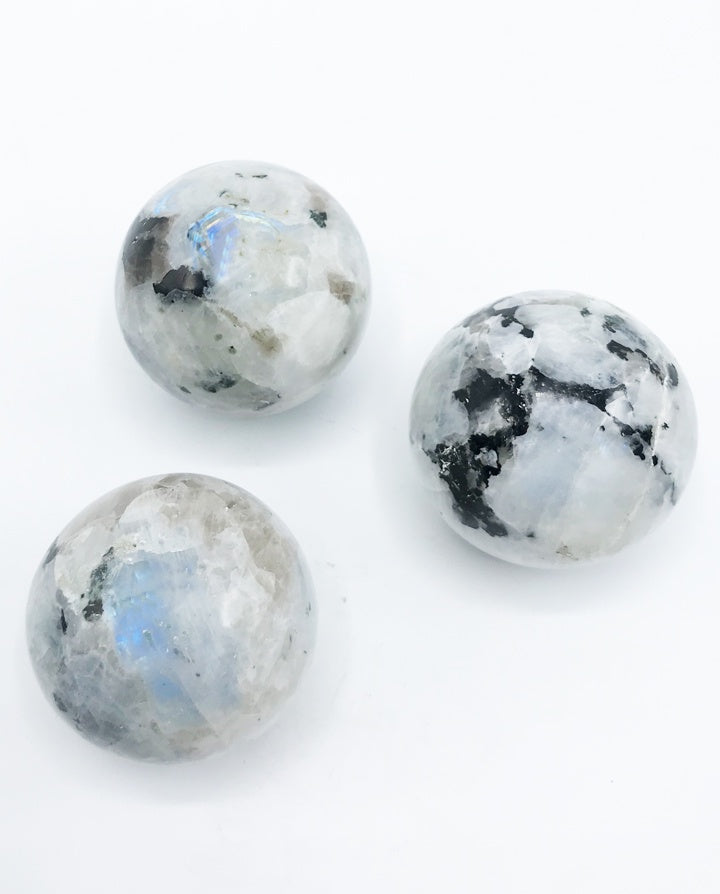 Rainbow Moonstone Sphere - Zero Point Crystals