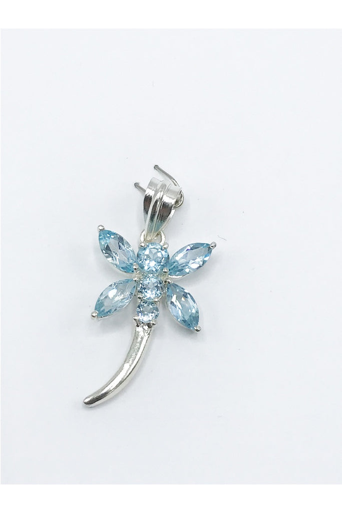 Gemstone Dragonfly Pendant - Zero Point Crystals