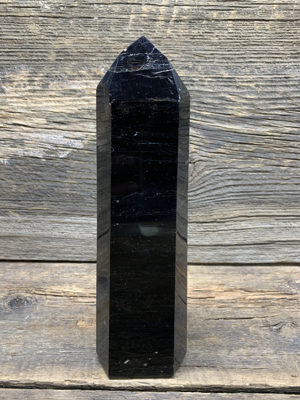 Black Tourmaline Obelisk 7920 - Zero Point Crystals