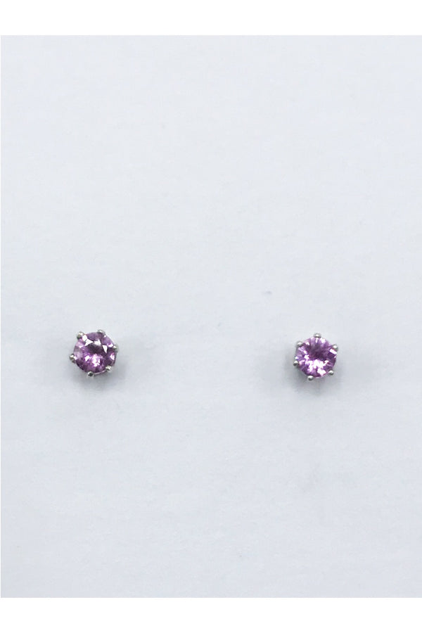 Pink Sapphire Earrings - Zero Point Crystals