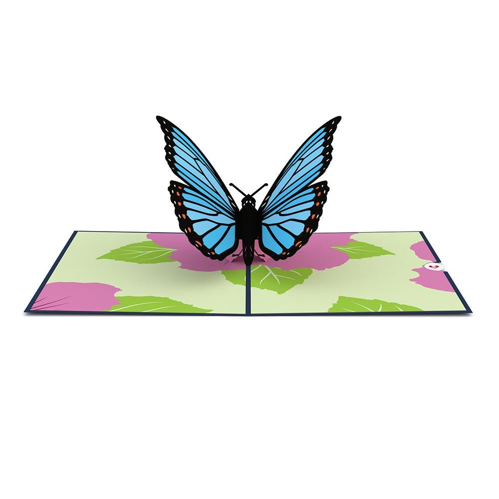 Blue Morpho Butterfly Pop-Up Card - Zero Point Crystals