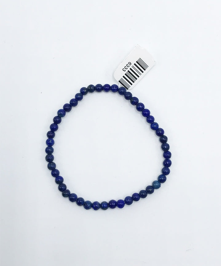 Lapis Bead (Stretch) Bracelet - Zero Point Crystals