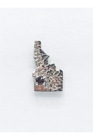 Idaho State Pin with Idaho Garnet - Zero Point Crystals