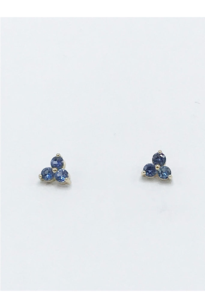 Sapphire (Yogo) Earrings - Zero Point Crystals