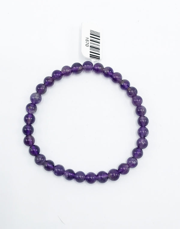 Amethyst Stretch Bracelet - Zero Point Crystals
