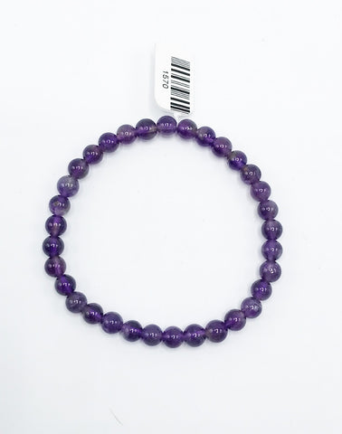 Amethyst Bead (Stretch) Bracelet - Zero Point Crystals