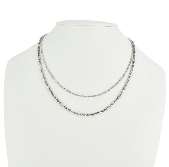 Diamond Cut Sterling Silver Chain - Zero Point Crystals