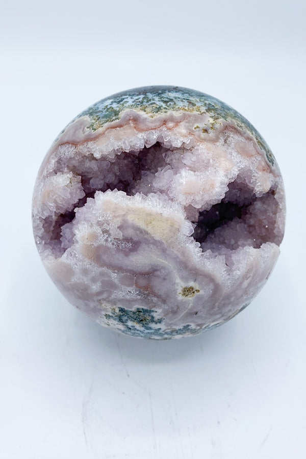 Rose Amethyst Sphere - Zero Point Crystals