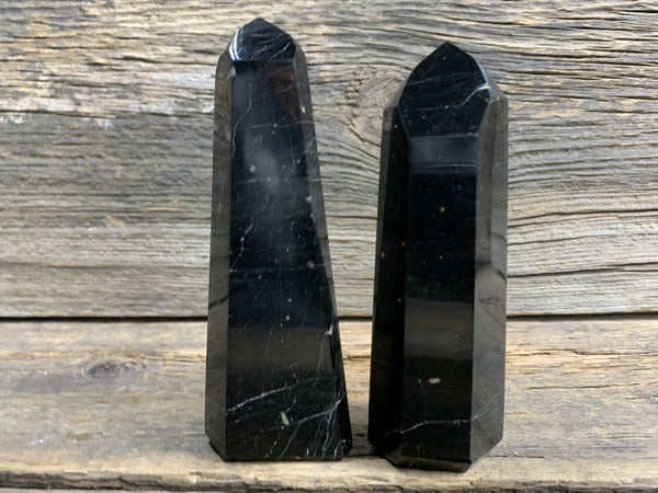 Black Tourmaline Obelisk  7872 - Zero Point Crystals