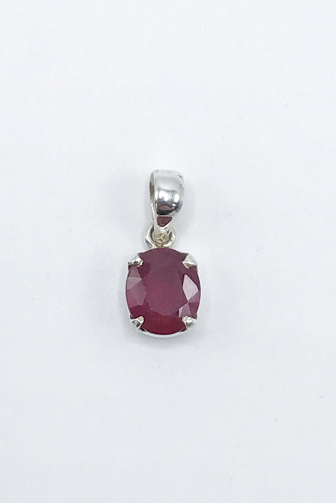 Faceted Ruby Pendant - Zero Point Crystals