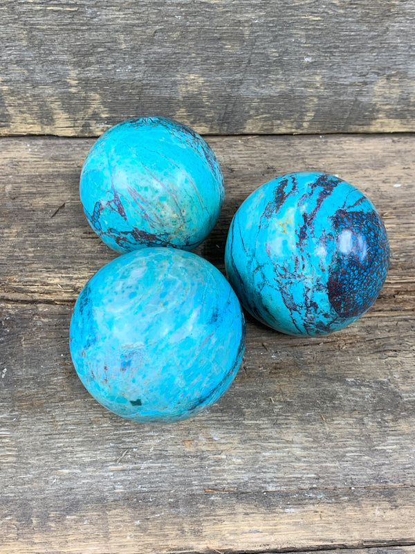 Chrysocolla Sphere B - Zero Point Crystals