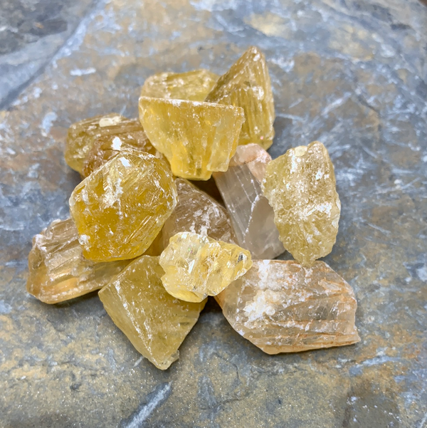 Rough Golden Calcite Pieces - Zero Point Crystals