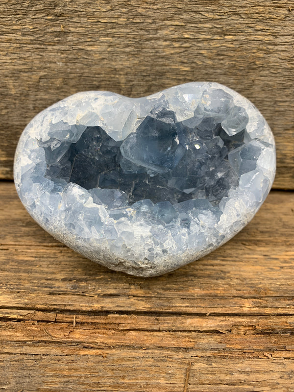 Celestite Heart - Zero Point Crystals