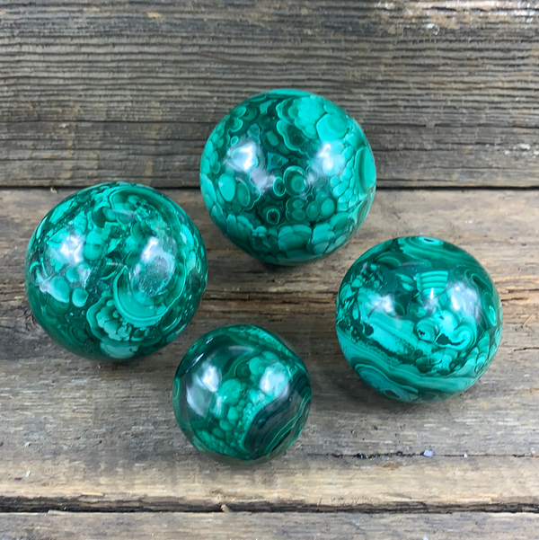 Malachite Sphere - Zero Point Crystals