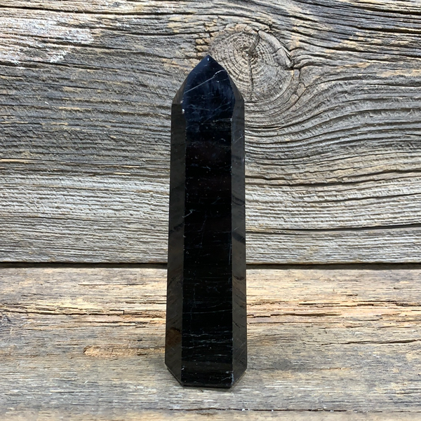 Black Tourmaline Obelisk 7870 - Zero Point Crystals