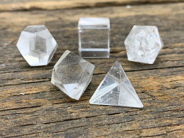 Platonic Solids - 5pc - Zero Point Crystals