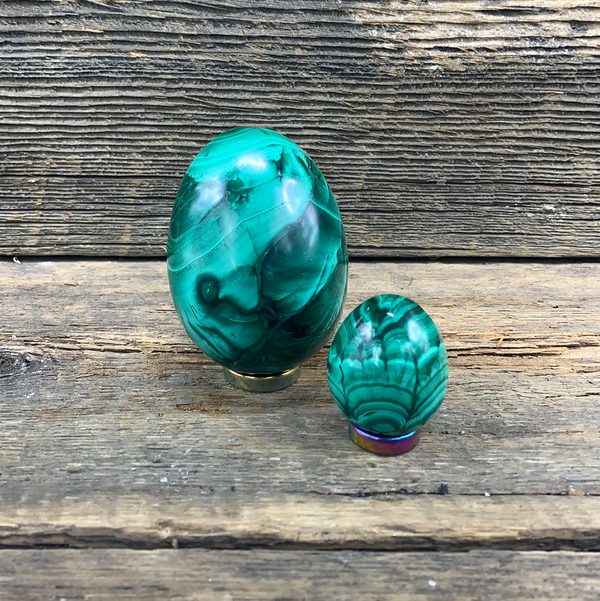 Malachite Egg - Zero Point Crystals