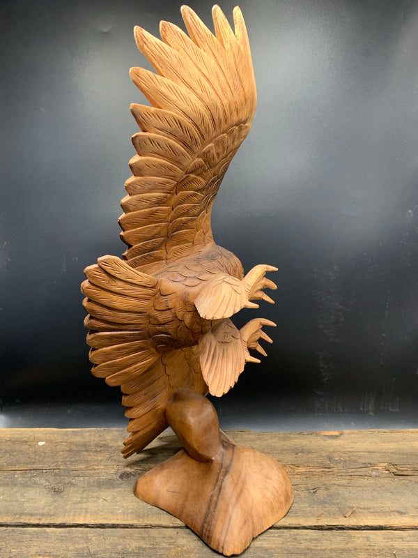 Soaring Owl Sculpture - Zero Point Crystals
