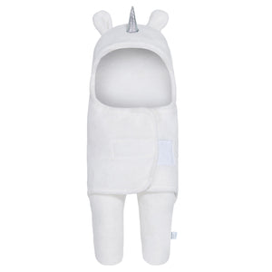 Unicorn Swaddle Wrap Baby Sleeping Bag |  White (0-6 Months)