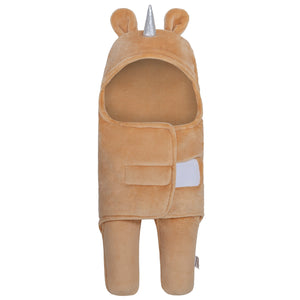 Unicorn Swaddle Wrap Baby Sleeping Bag | Brown (0-6 Months)