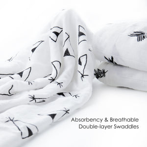 soft breathable muslin swaddle blanket newborn
