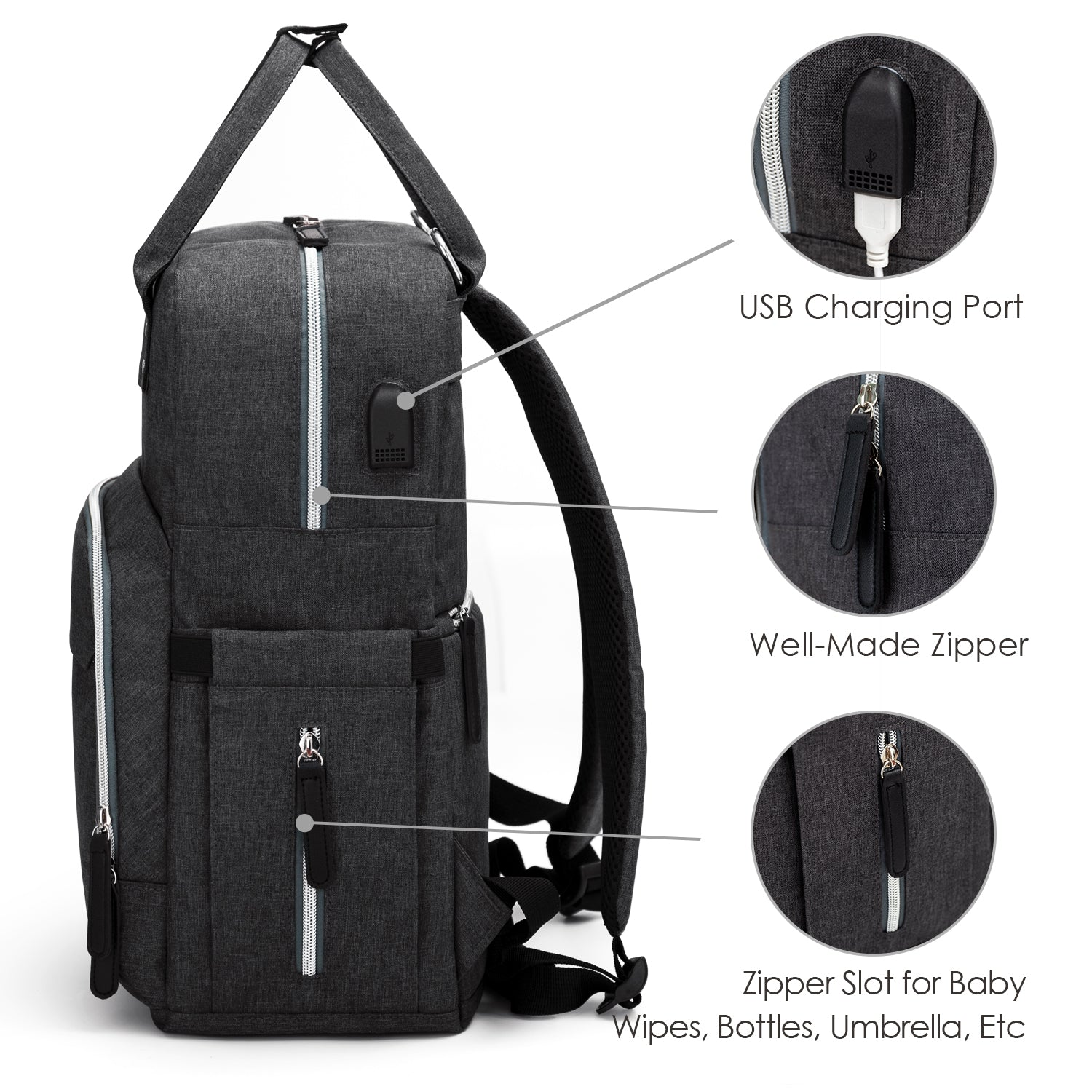 b71483c3aadd Diaper Bag Backpack Upsimples Multi-Function Maternity Nappy Bags for Mom    Dad