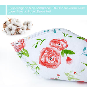 10-Pack Bandana Drool Bibs for Baby Girls