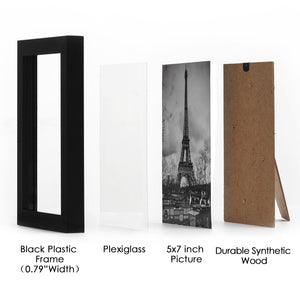 5x7 PICTURE GALLERY WALL FRAME SET (17) | Black