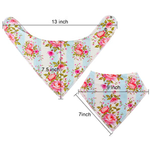 10-Pack Bandana Girl Bibs (Blossom Design)